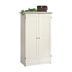 Sauder Harbor View Craft Armoire Antique White by Office ...