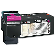 Lexmark C540H2MG High Yield Magenta Toner