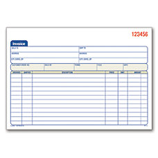 Invoices statements at office depot officemax for Invoice book office depot