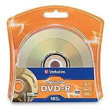 Verbatim DVD R Lightscribe 47Gb 16X