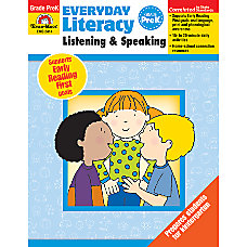Evan Moor Everyday Literacy Grade PreK