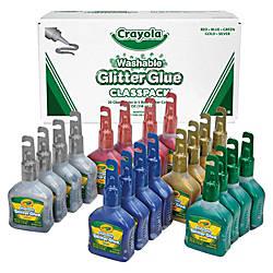 Crayola Washable Glitter Glue Classpack 80