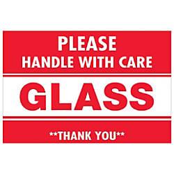 Tape Logic Preprinted Labels Glass Handle