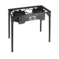 Stansport 2 Burner Propane Stove Black