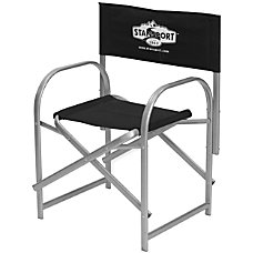 Stansport Directors Camp Chair BlackSilver