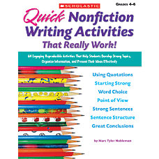 Scholastic Quick Nonfiction Writing Activities That