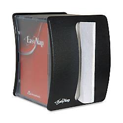 "Georgia-Pacific® EasyNap® Napkin Dispenser, 7 7/10""H x 5 4/5""W x 4 4/5""D, Black"