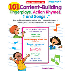 Scholastic 101 Content Building Fingerplays Action
