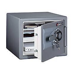 Sentry®Safe Fire-Safe® Combination Safe, 0.8 Cubic Foot Capacity, Gunmetal Gray
