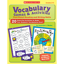 Scholastic Vocabulary Games Activities That Boost