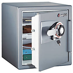Sentry®Safe Fire-Safe® Combination Safe, 1.2 Cubic Foot Capacity, Gunmetal Gray