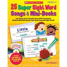 Scholastic 25 Super Sight Word Songs
