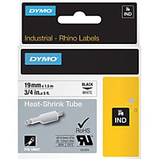 Dymo Heat Shrink Tube Wire Cable