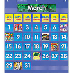 Teachers Friend Monthly Calendar Pocket Chart
