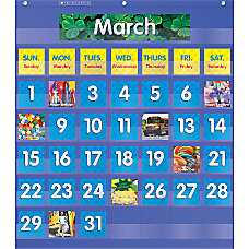 Teachers Friend Monthly Calendar Pocket Chart