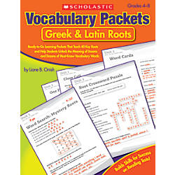Scholastic Vocabulary Packets
