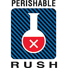 Preprinted Shipping Labels Perishable Rush 4