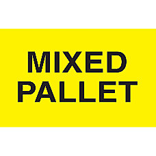 Preprinted Special Handling Labels Mixed Pallet