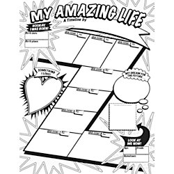 Scholastic Graphic Organizer Posters: My Timeline (Grades 3-6)