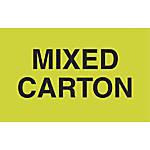 Preprinted Special Handling Labels Mixed Carton
