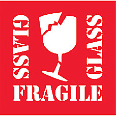Preprinted Shipping Labels Glass Fragile Glass