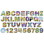 Scholastic Illustrated Alphabet Numbers Bulletin Board