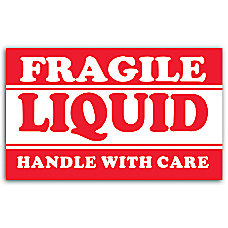 Preprinted Shipping Labels Fragile Liquid Handle