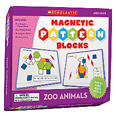Scholastic Magnetic Pattern Blocks Zoo Animals