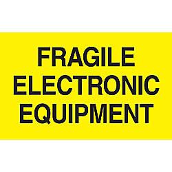 Preprinted Special Handling Labels Fragile Electronic