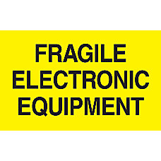 Preprinted Special Handling Labels Fragile Electronic