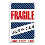 Preprinted Shipping Labels Fragile Liquid In