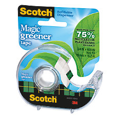 Scotch Magic 55percent Recycled Tape In