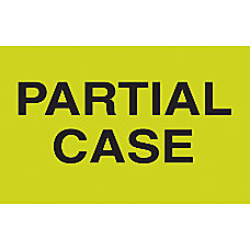 Preprinted Special Handling Labels Partial Case