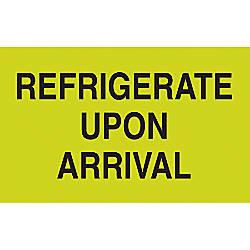 Preprinted Special Handling Labels Refrigerate Upon