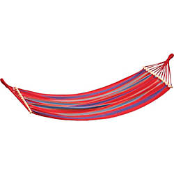 Stansport Bahamas Cotton Hammock Single Red
