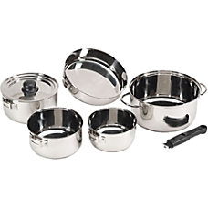 Stansport 7 Piece Stainless Steel Cookset
