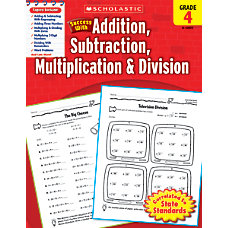Scholastic Success With Addition Subtraction Multiplication