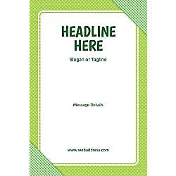 Custom Vertical Poster Green Checks