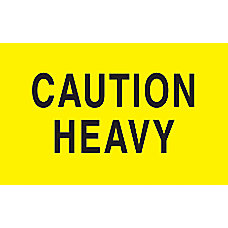 Preprinted Special Handling Labels Caution Heavy