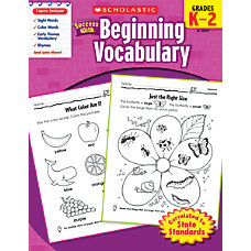 Scholastic Success With Beginning Vocabulary Workbook