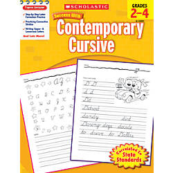 Scholastic Success With Contemporary Cursive Workbook