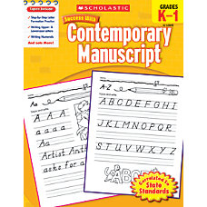 Scholastic Success With Contemporary Manuscript Workbook