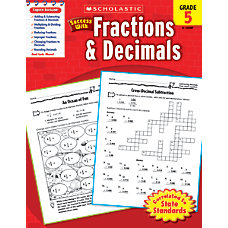 Scholastic Success With Fractions Decimals Workbook