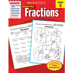 Scholastic Success With Fractions Workbook Grade