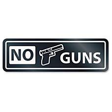 US Stamp Sign No Guns Window