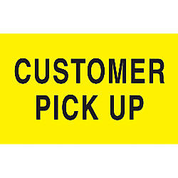 Preprinted Special Handling Labels Customer Pick