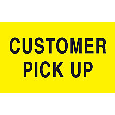 Preprinted Special Handling Labels Customer Pick