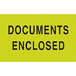 Preprinted Special Handling Labels Documents Enclosed