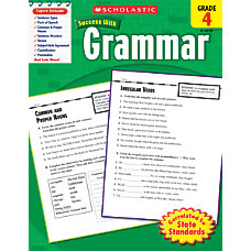 Scholastic Success With Grammar Workbook Grade