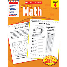 Scholastic Success With Math Workbook Grade